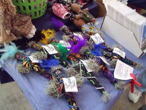 Spanish Moss Voodoo dolls in the French Market