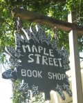 Sign at Maple Street Book Shop