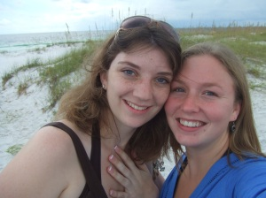 Me and Becca at Pensacola Beach -- Ignore her hand lol